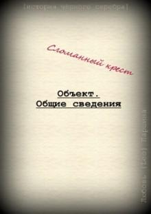 """Книга """"Сломанный крест. Объект. Общие сведения"""" читать онлайн"""