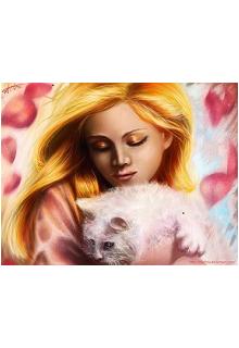 """Книга """"Девочка с белой кошкой."""" читать онлайн"""