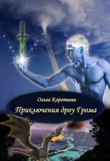 """Обложка книги """"Приключения дроу Грома"""""""